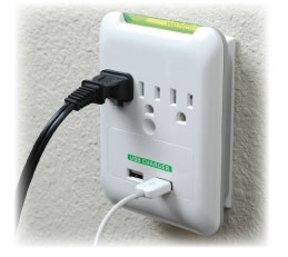 PowersAll Multi Outlet Wall Charger with USB