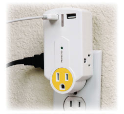 PowersAll Mini Multi Outlet Wall Charger with USB