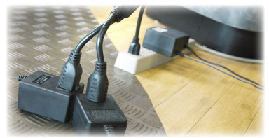 Power Strip Liberator Y-Splitter provides two additional power plugs