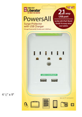 Power Strip Liberator Power All Retail Packaging