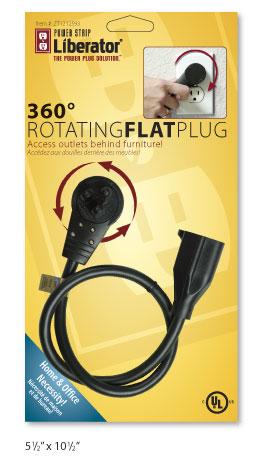 power strip liberator 360 degree flat plug retail packaging